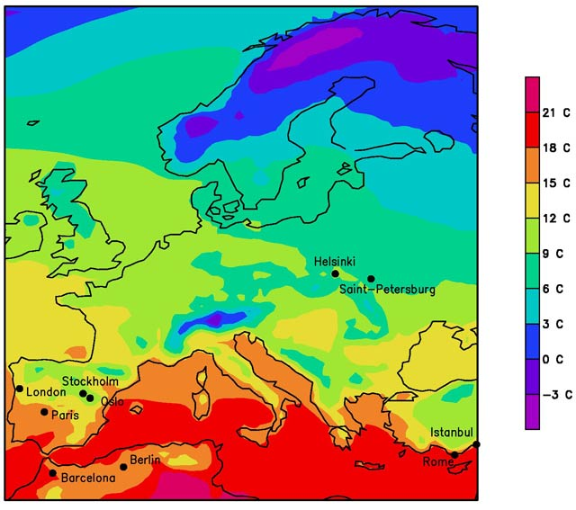 Map Of Europe And The Uk.Heading South Europe S Climate In 2071 The Next Wave