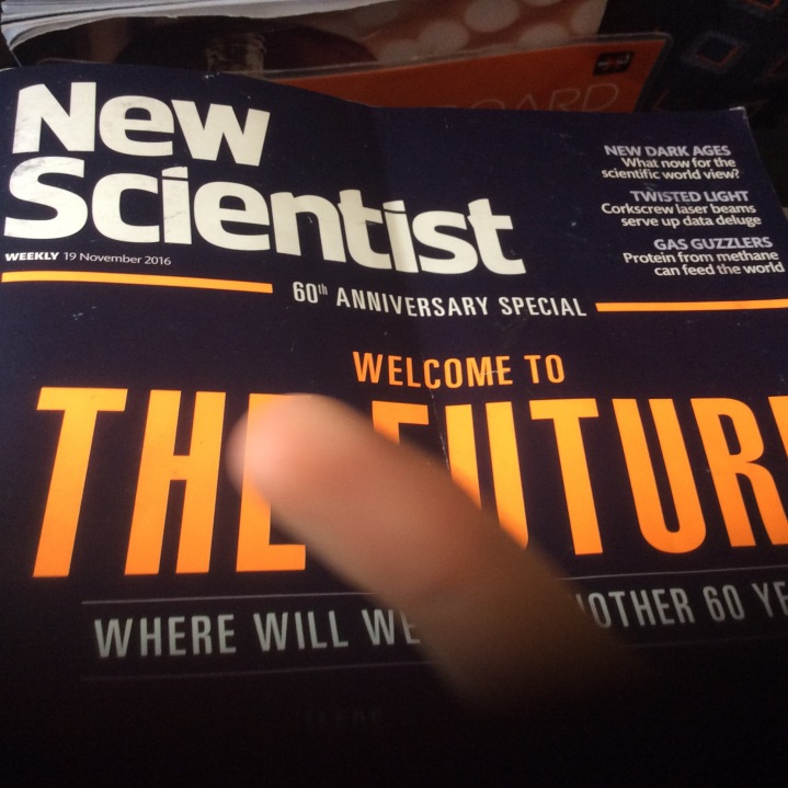 New Scientist: 60th Anniversary Issue. Photo by Andrew Curry